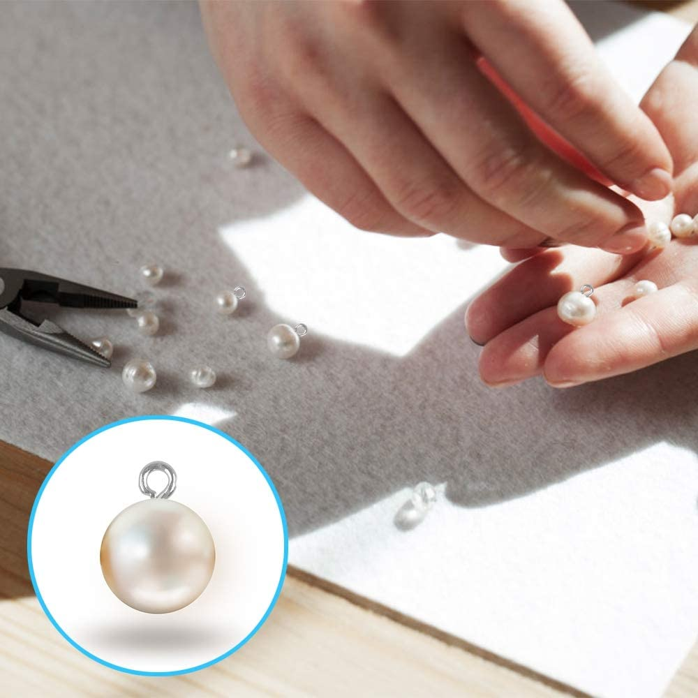 2 Boxes Screw Eyes Small 1200 PCS Screw Eyelets Pins Hooks Screw Eye Bails Mini Eye Pin Screws for Jewelry Making DIY Crafts 6 Colors