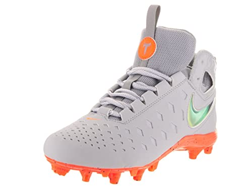 5539685e1 Nike Kids Huarache V Lax BG LE Wolf Grey Total Orange Black Cleated Shoe