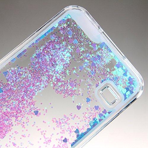 Schutzhülle für Samsung Galaxy S5, Nsstar® Blau Hard Plastic Handyhülle Transparent Clear Cystal Case Glitter Flowing Bling Sterns und Sparkles Shinny Attraktiv Anti Scratch Hart Hülle Etui Schale für