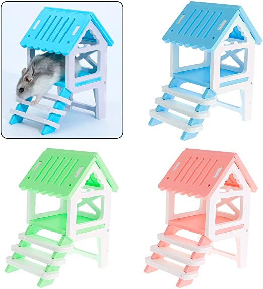 Haven shop - Nido de hámster para Mascotas, Juguetes de Madera ecológicos de Doble Capa, Escalera de Regalo Divertido de Lujo para esconder el sueño para Chinchilla, Ardilla, cobaya, Productos: Amazon.es: Productos