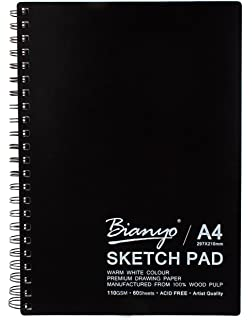 Brustro artists sketch book stitched bound a3 110 gsm 160 pages bianyo artist quality sketch pad acid free a4 size fandeluxe Choice Image