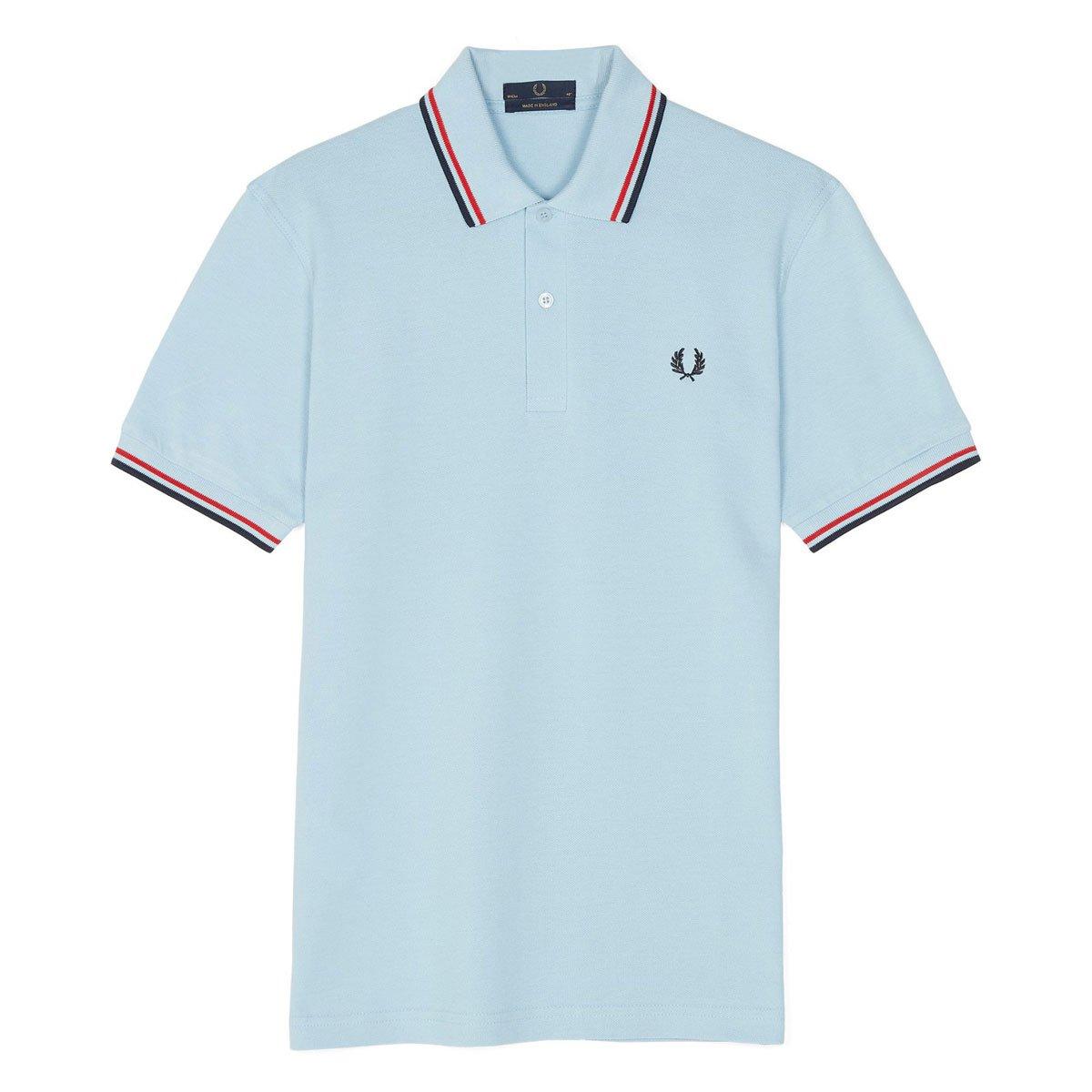 [フレッドペリー]ポロシャツ TWIN TIPPED FRED PERRY SHIRT M12N メンズ B07D7N8HQT UK38(Mサイズ相当)|ICE(105) ICE(105) UK38(Mサイズ相当)