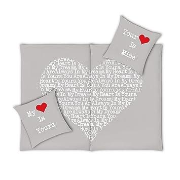 VS Home Partner-Bettwäsche Heart Herz Valentinstag / 100% Baumwolle ...