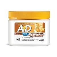 A+D Original Diaper Rash Ointment, Skin Protectant With Lanolin and Petrolatum,...