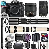 Holiday Saving Bundle for D7500 DSLR Camera + 650-1300mm Telephoto Lens + Tamron 70-300mm Di LD Lens + AF-P 18-55mm + 500mm Telephoto Lens + 2yr Extended Warranty + 32GB - International Version