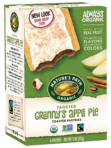 Granny Apple Pie - Nature's Path Organic Frosted Toaster Pastries Grannies Apple Pie -- 6 Pieces