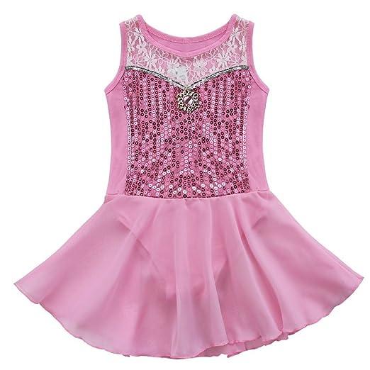 e73f883f4c28 Amazon.com  iiniim Kids Girls Princess Leotard Dress Tutu Ballet ...
