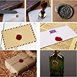Wax Seal Sticks, Yoption 5 Pcs Totem Fire Manuscript Sealing Seal Wax Sticks with Wicks Cord Wick Sealing Wax For Postage Letter Retro Vintage Wax Seal Stamp (Flashing Red Wine)