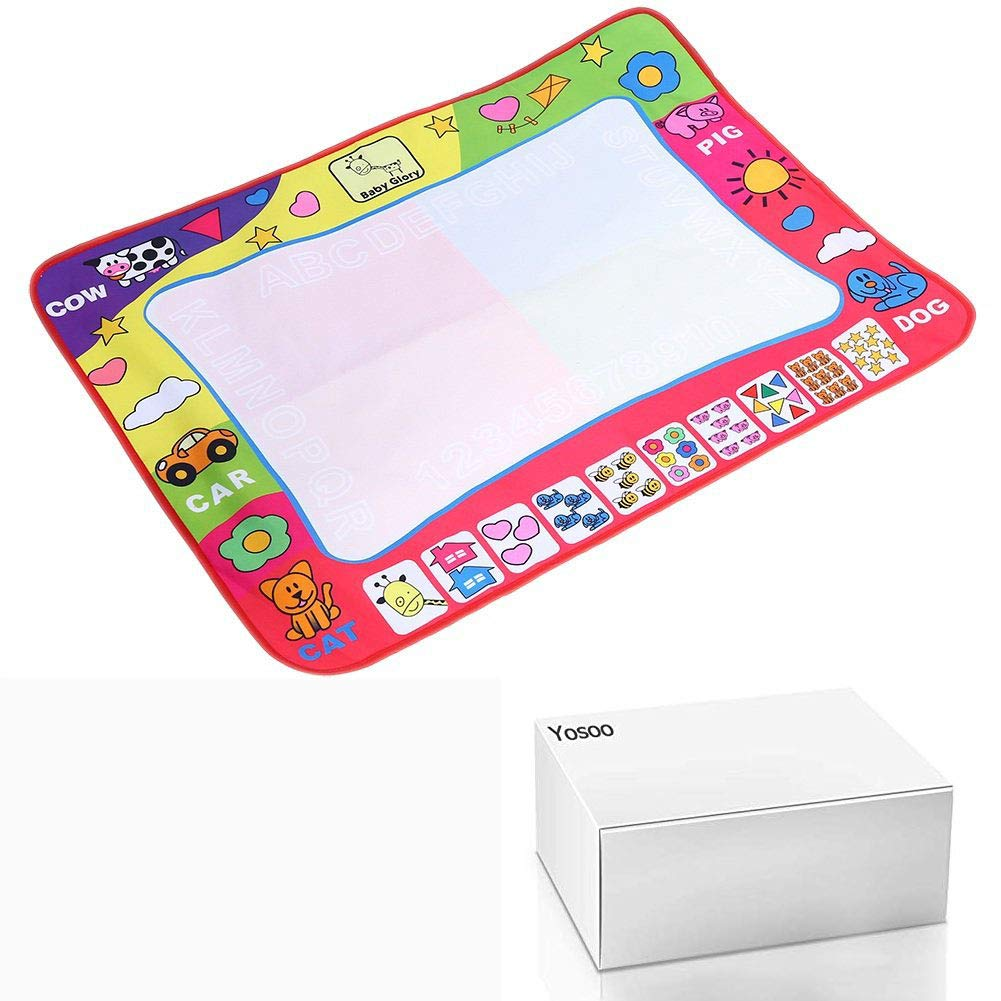 Cafopgrill Zeichentisch f/ür Wassermalerei Zeichentisch Spieltisch Zeichentisch mit 2 magischen Stiften Tropfen und Lernhilfe f/ür Kinder 80 x 60 cm