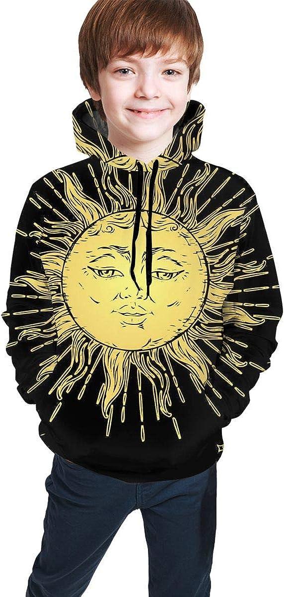 Sun Kid Hoodie Sweater Pullover Drawstring Pocket Novelty Sweat Shirt for Kid