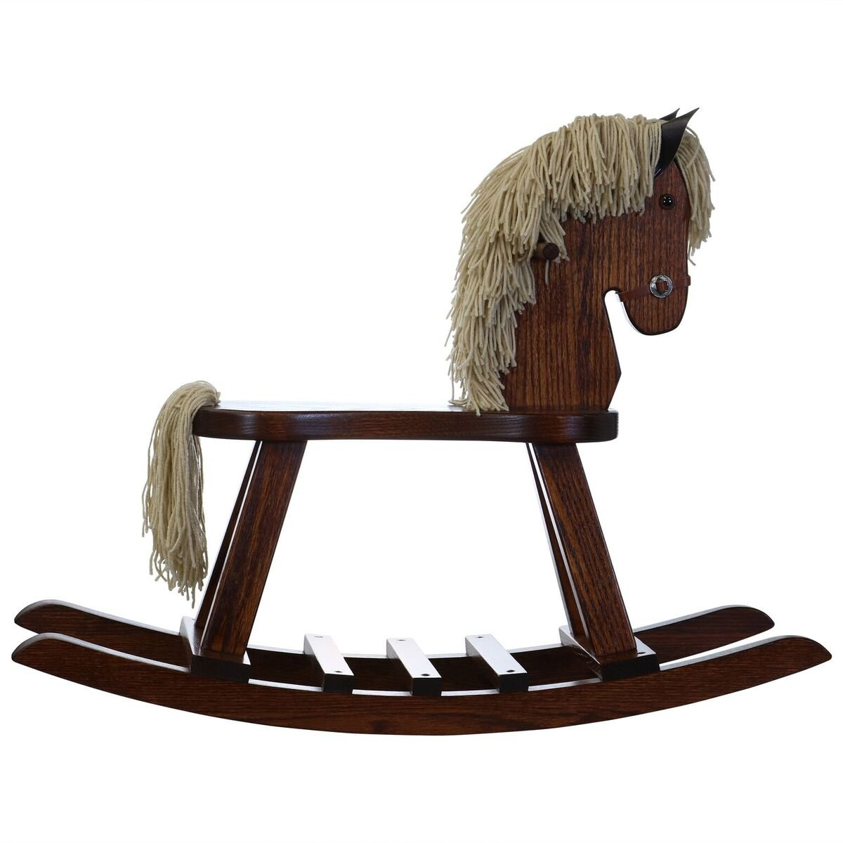 Amish Made Wooden Rocking horse for toddlers and kids Nursery Room decor decoration Hand Crafted in the USA Made of solid oak Size: 34'' W x 11.5 ''D x . by DaySpring Internati