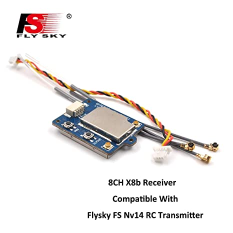 Flysky FS-X8B Receiver, 8CH 2 4G i-Bus/PPM Receiver for FS-Nirvana FS-NV14  FS-i6 FS-i6s FS-i6x FS-i8 FS-i10 Transmitter RC Quadcopter