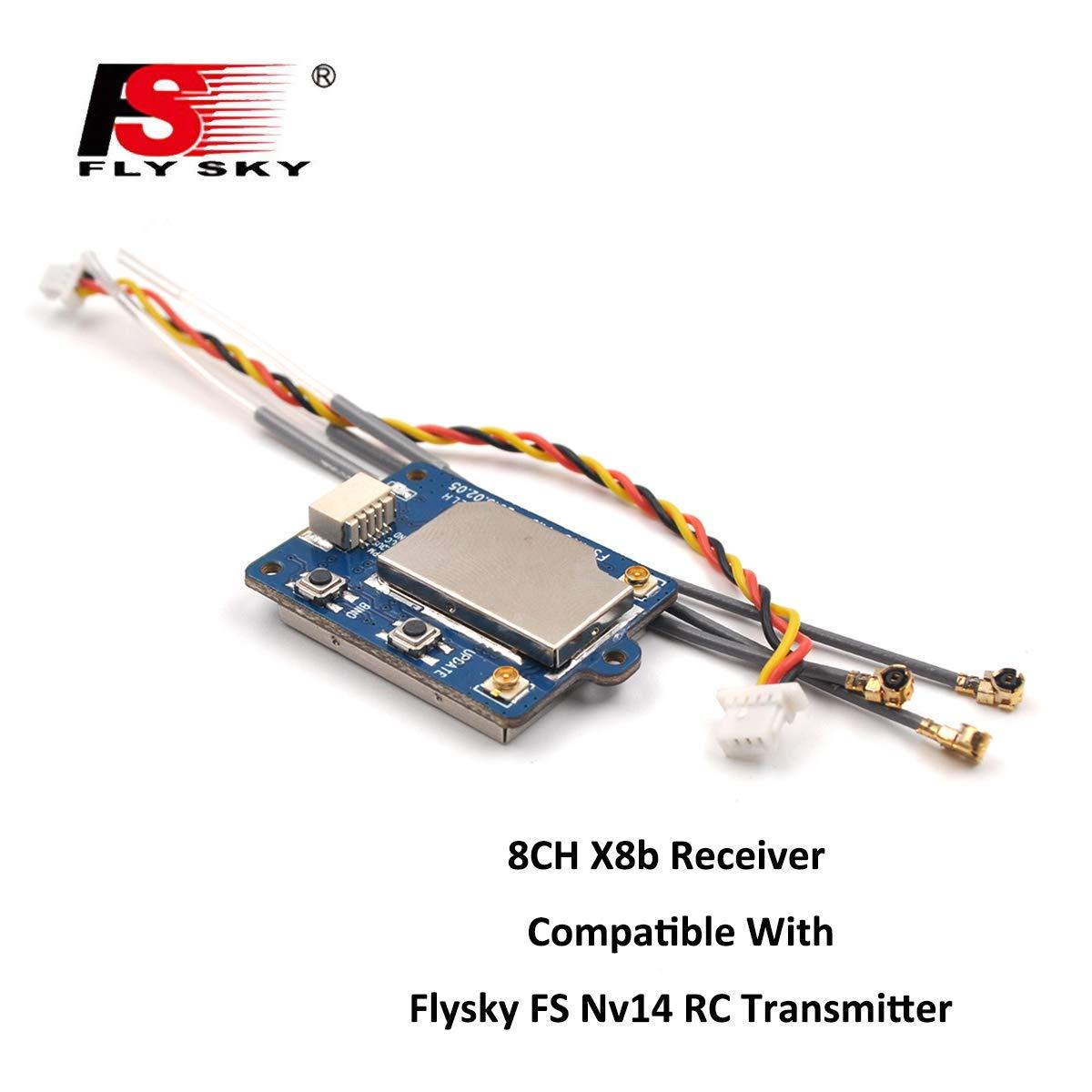 Flysky FS-X8B Receptor, 8CH 2.4G i-Bus / PPM Receptor para FS-Nirvana FS-NV14 FS-i6 FS-i6s FS-i6x FS-i8 FS-i10 Transmiso