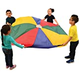 Jumping Sacks with Flat Bottoms x 12 1//2 W Constructive Playthings Set of Six 23 H Tightly-Stitched Seams and Two Sets of Nylon Web Handles for Children of Differing Heights Ages 3 Years and Up