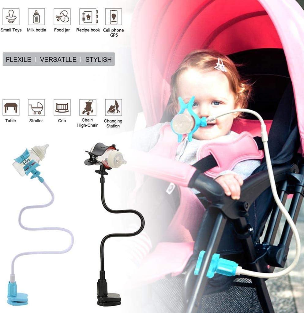 Masrin Babyflaschenhalter Kinderbetten und Babyessst/ühle um 360 /° drehbarer R/ückprallschutz Tragbarer multifunktionaler geeignet f/ür Kinderwagen Blau