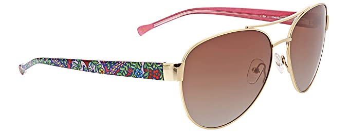 fd5513f3506e1 Image Unavailable. Image not available for. Color  Vera Bradley Women s Aya Polarized  Aviator Sunglasses ...
