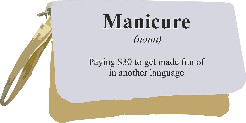 Manicura Definición Funny Alternativa No en el Diccionario Bolsa de embrague, color dorado talla única: Amazon.es: Oficina y papelería