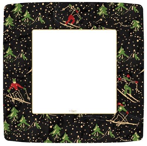 Christmas Plates Paper Plates Holiday Party Rustic Christmas Décor Ski Chalet Black Pk 16 Caspari