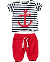 ETOSELL Baby Boys Striped Short Sleeve Tops T-shirt Red Pants Outfits Sets
