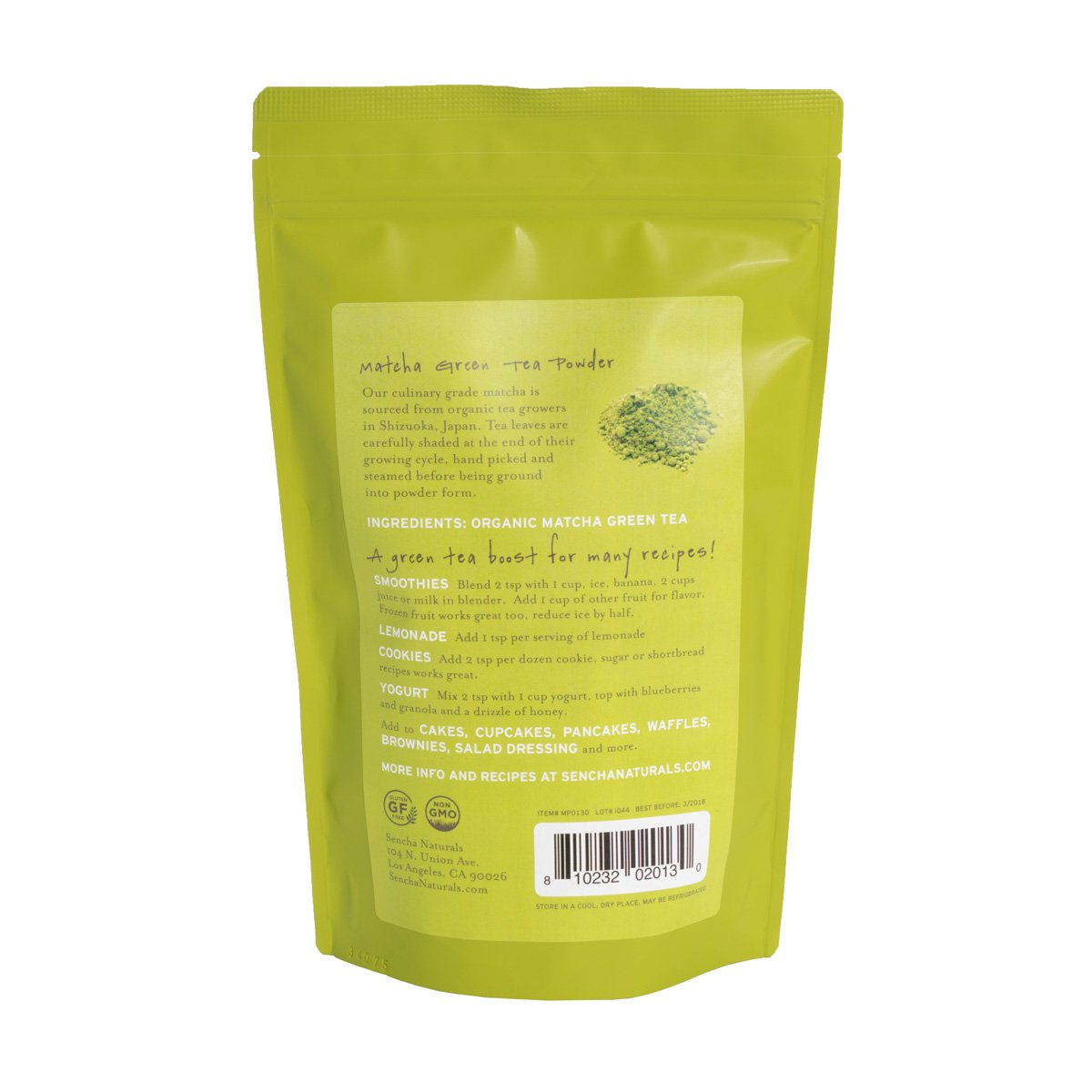 Sencha Naturals Culinary Grade, Organic Matcha Powder, 16 Ounce by SENCHA NATURALS (Image #2)