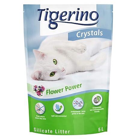 Tigerino Crystals Arena para Gatos con diseño de Flores ...