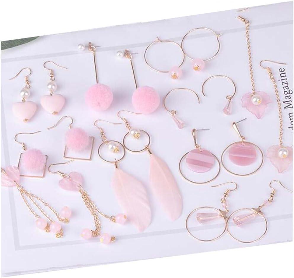 Black Temptation Pendientes Hechos a Mano de DIY Ear Clip Kit Ear Jewelry Accessories Material # 6
