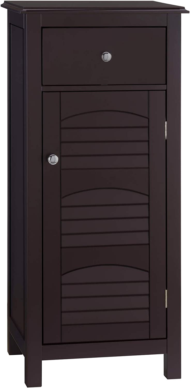 Elegant Home Fashion Danbury Freestanding Cabinet with 1 Door and 1 Draw-Espresso