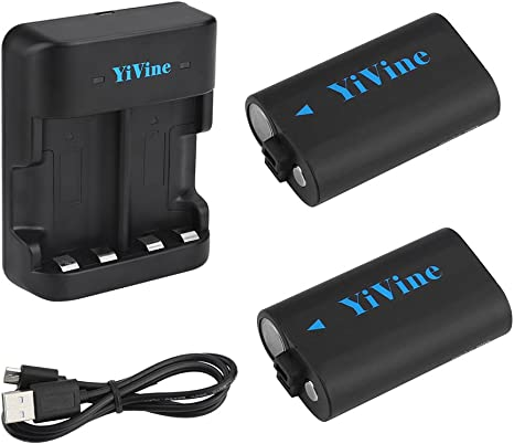 YiVine 2500mAH NI-MH Batería (Xbox One) para Mando Inalámbrico Xbox One/Xbox One X/Xbox One S/Mando Elite Wireless con cargador dual inteligente: Amazon.es: Videojuegos