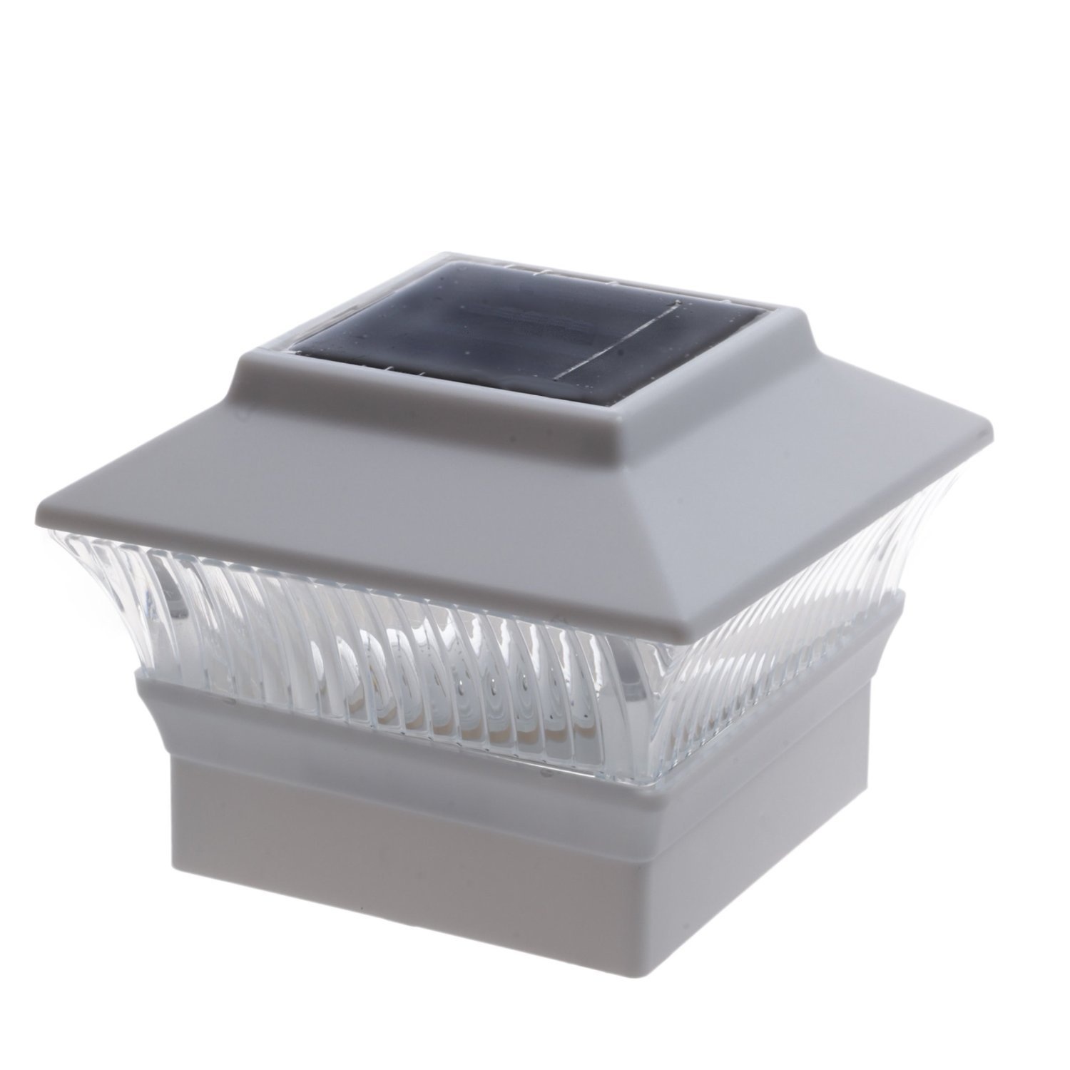 12 Pack Solar White Color Square Post Fence Mount 4x4 (WILL Only FIT 4'' x 4'' PVC POSTS not wood POST)