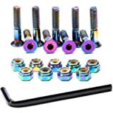 Skateboard Hardware 9PCS Bolts Set Deck Mounting Screws Nuts Hex Key Skate Parts Outfits Color Fasteners Longboard…