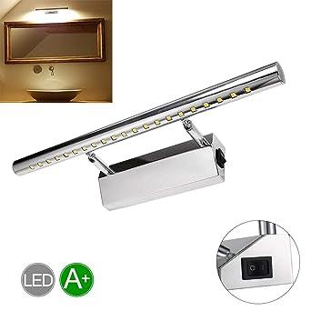 Miroir Acier 400mm Greensun Led Blanc Murale Ampoule 21leds Mur Pour Bain 5w Chaud De Inoxydable Etanche Salle Lampe Applique 5050smd Rotatif 180° mwOvN8n0