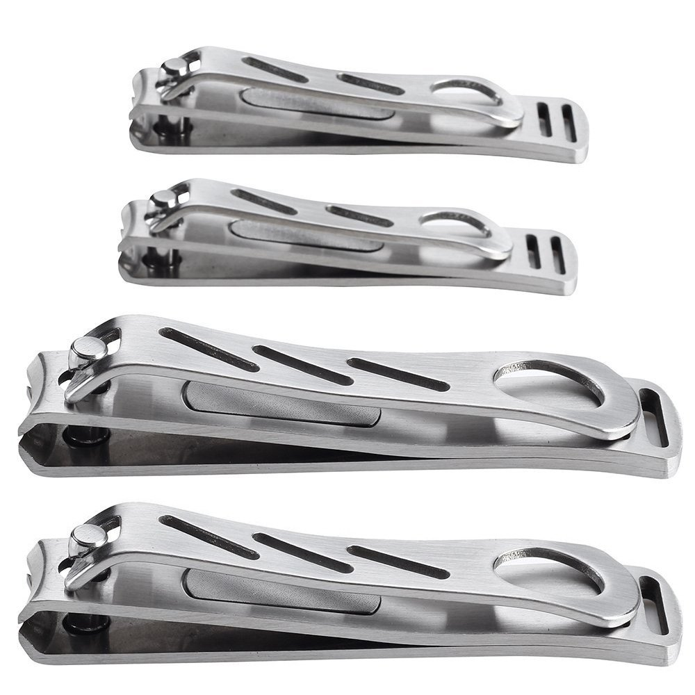HQY Heavy-duty and Stainless Steel Nail Clipper Set - Fingernail and Toenail Clipper Set
