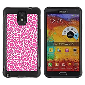 LASTONE PHONE CASE / Suave Silicona Caso Carcasa de Caucho Funda para Samsung Note 3 / Pattern White Pink Animal Fur