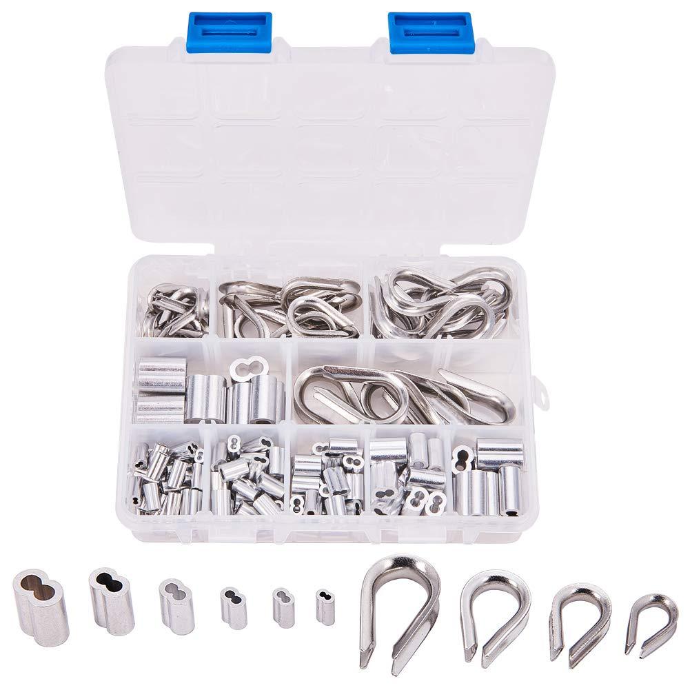 Increway 304 ditale in acciaio INOX e alluminio 6-size piegatura loop manica assortimento kit