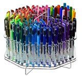 (US) Marketing Holders Clear 120 Slot Table Top Counter Top Pen / Sharpie / Paint Brushes / Makeup Brushes / Lip Liner / Eye Liner Holder Display