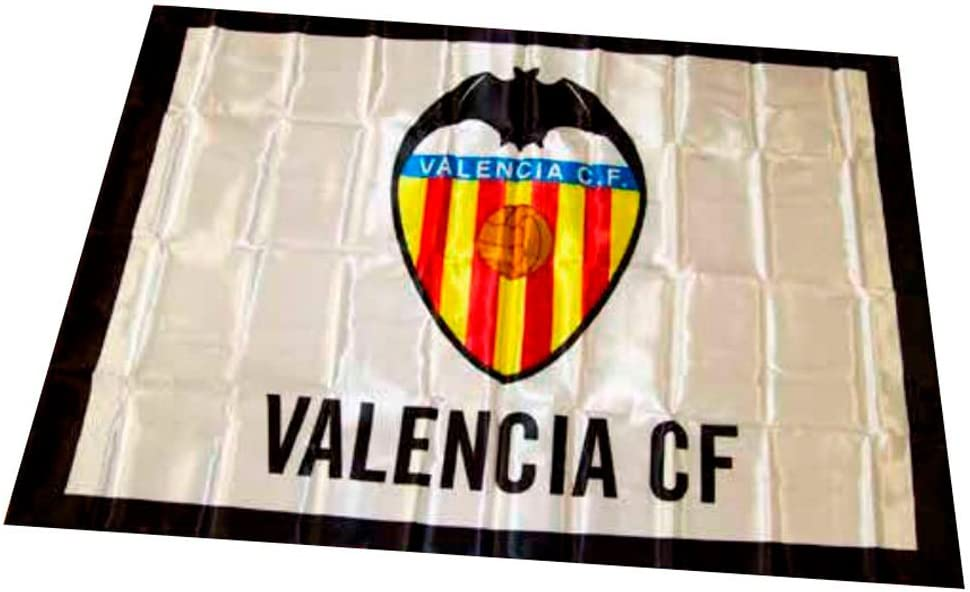 Valencia CF 01BAD02 Bandera, Blanco/Naranja, Talla Única