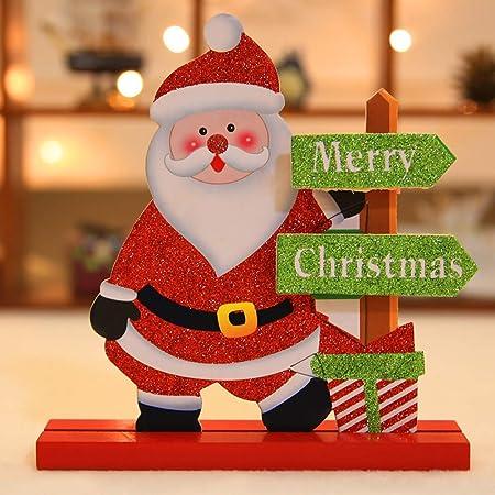 lulalula 3 Piezas de Madera decoración de Mesa de Navidad, Papá ...