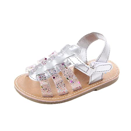 NEW Toddler Girls Sandals Size 6 Pink Polka Dot Summer Casual Kids Shoes