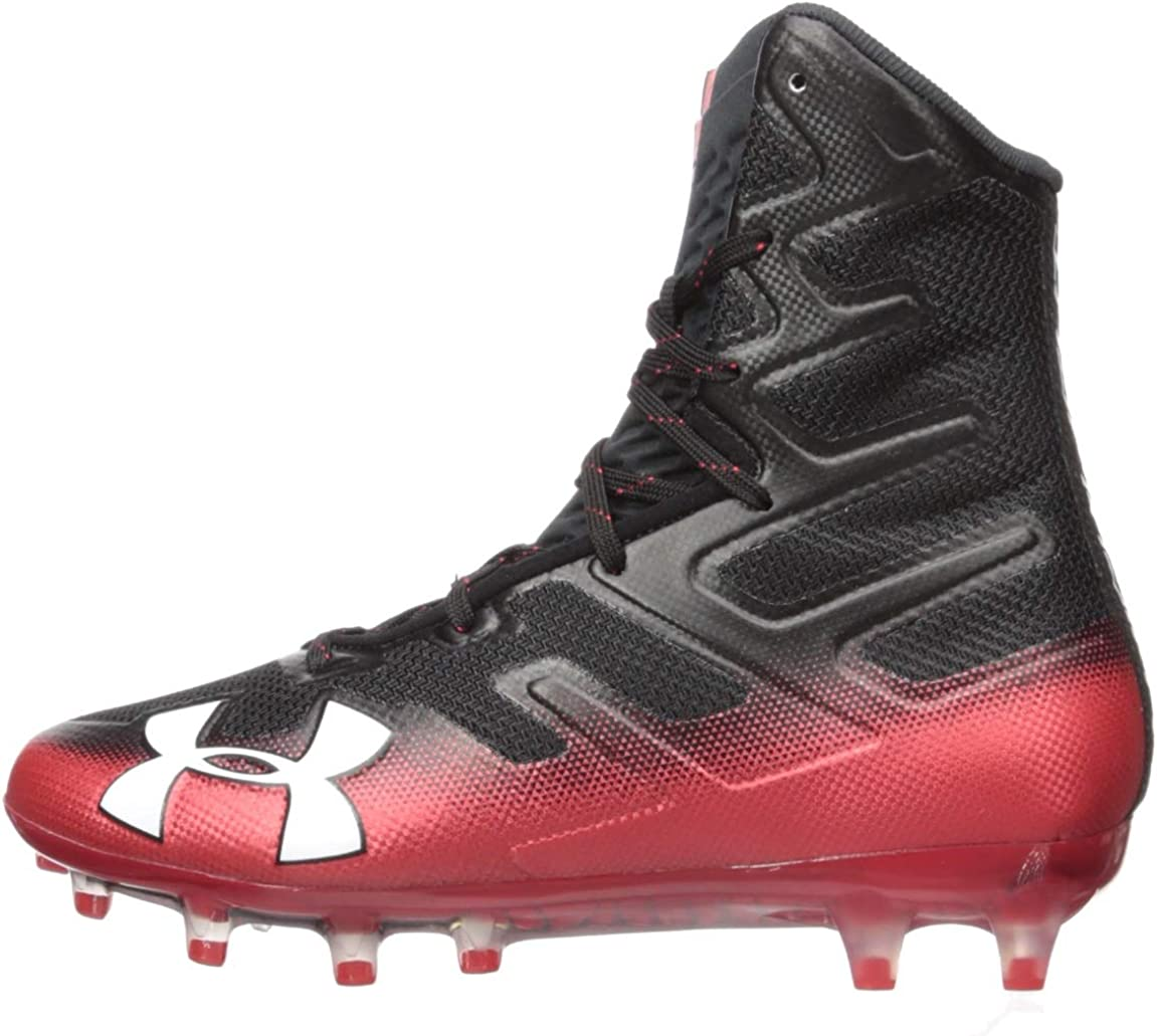 11.5 //Red Under Armour Mens Highlight MC Football Shoe 008 Black