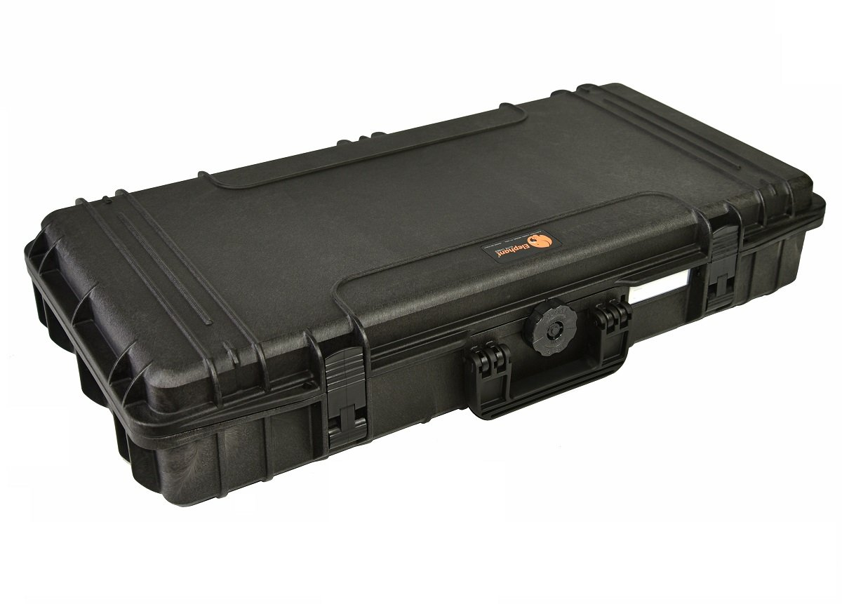 31'' Rifle Case Waterproof hard case Elephant Elite EL3105 With Pre-Cubed Foam for short gun and rifles with Magazines and Accessories, Watertight Hard Plastic case