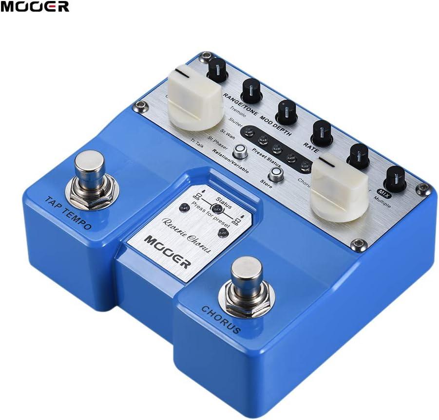 Fesjoy Reverie Chorus Pedal de efectos de guitarra 5 Modos de coro 8 Efectos de mejora Tap Tempo Función con conmutadores de pedal duales