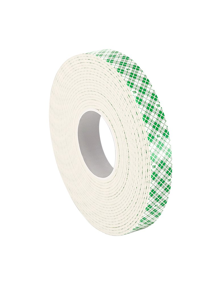 3M 4016 Natural Polyurethane Double Coated Foam Tape Pack of 1 0.375 Width x 5yd Length