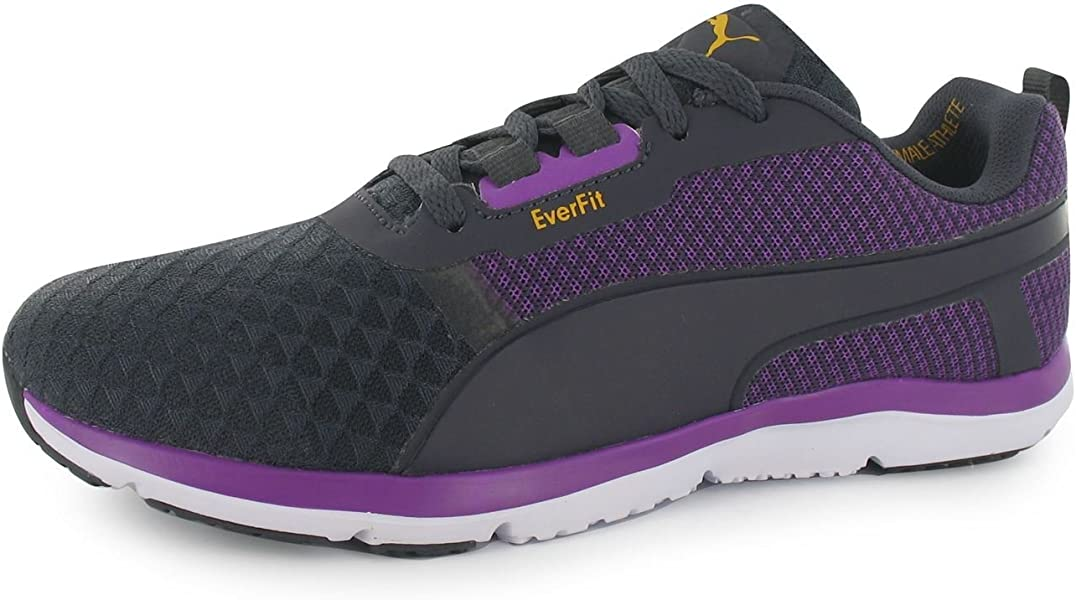 2014b3f7126 Puma Pulse Flex XT EverFit Running Shoes Womens Grey Purple Trainers  Sneakers (UK4)
