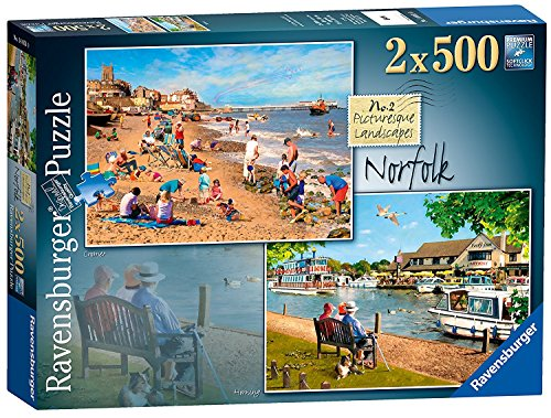 - Ravensburger Picturesque Landscapes No.2 Norfolk - Cromer & Horning, 2X 500pc Jigsaw Puzzle