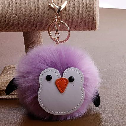 Llavero de pingüino, diseño de pingüino, violeta, 16x12cm ...