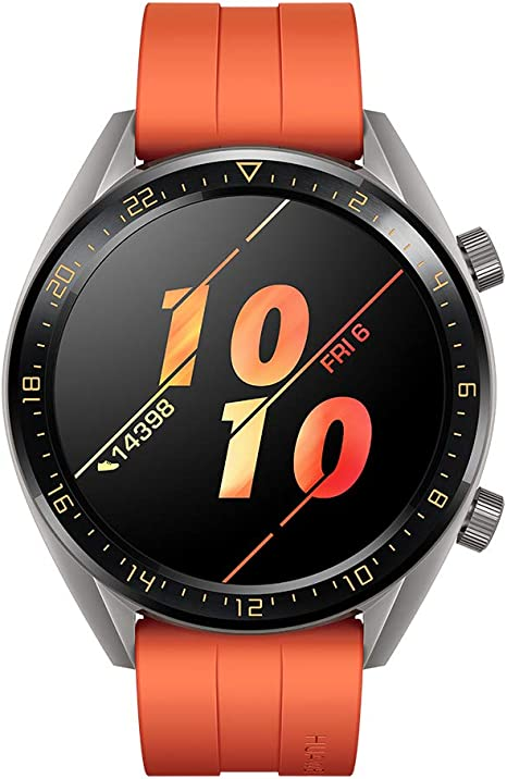 Huawei Watch GT Active Montre Connectée (GPS, boîtier 46mm) avec Bracelet Sport Orange