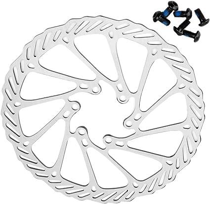 Acero Inoxidable 6 Pernos Frenos de Disco para Bicicleta de monta/ña G3 Negro VOANZO Frenos de Disco para Bicicleta Rotor DE Disco de 160 mm