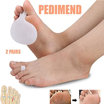 4 Pair Silicone Foot Insoles Front Shoe Pads Cushion Forefoot Pain Support