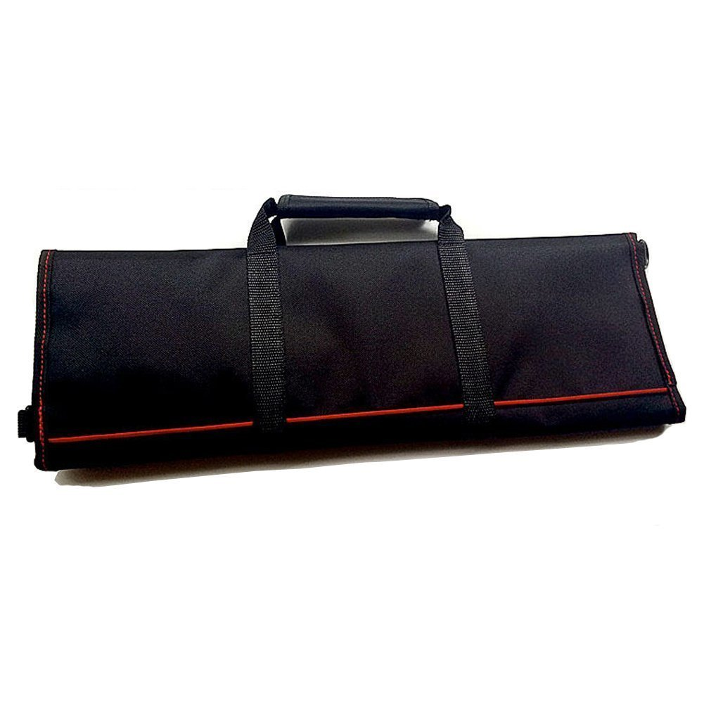 Waterproof Chef's Knife Roll Bag Multi Purpose Canvas Knife Roll Bag Pouch with Handle Strap HGJ03-R-US
