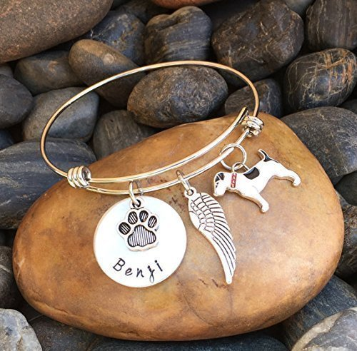 bridge pet bracelet loss paw personalized name memorial rainbow short product print gift